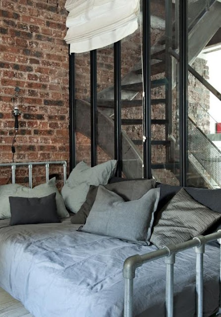 gorgeous bedroom loft style pity i cant read french theres heaps of - Industrial Vintage Wohnhaus Loft Stil