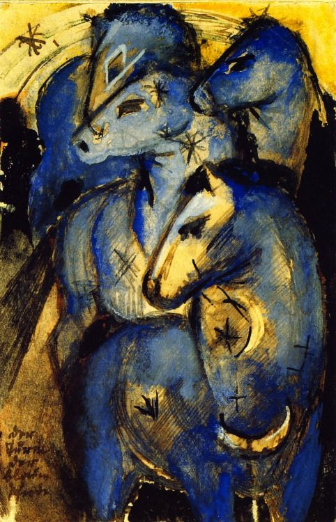 Franz Marc, Tower of Blue Horses, 1913