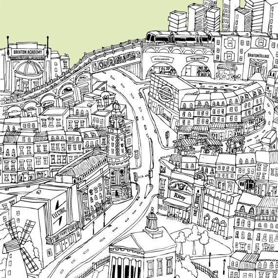Personalised Brixton Print by TessaGalloway on Etsy