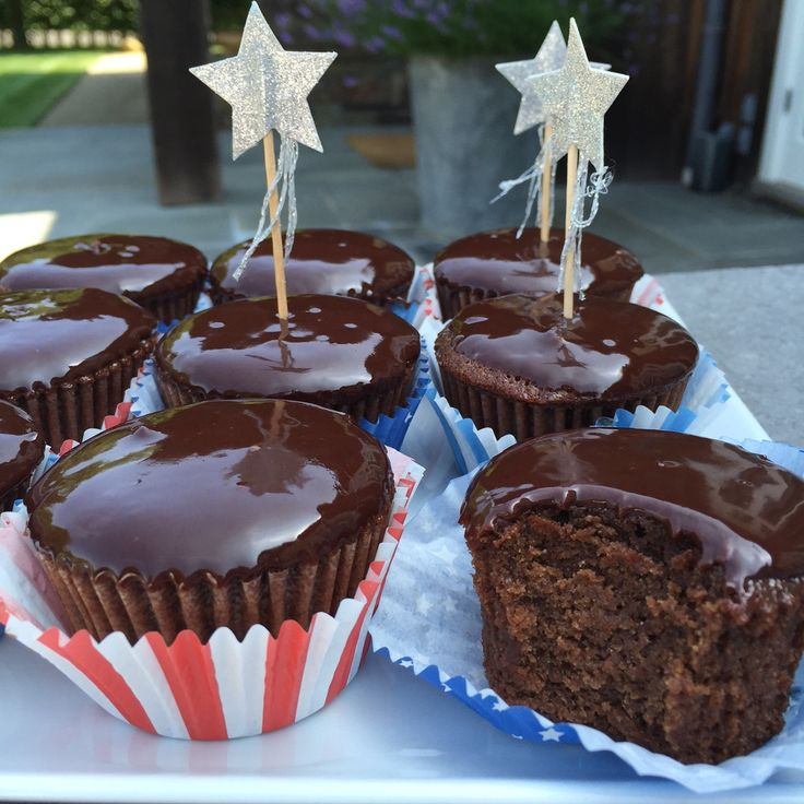 Chocolate Ganache Cupcakes from the 4th of July!