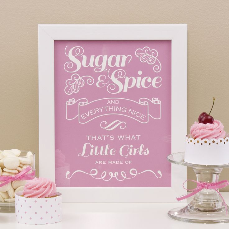 """Makes a great Christmas gift! Choose a colour, choose a style, make it your own! """"Sugar and Spice and Everything Nice"""" print by Simple Sugar Design 