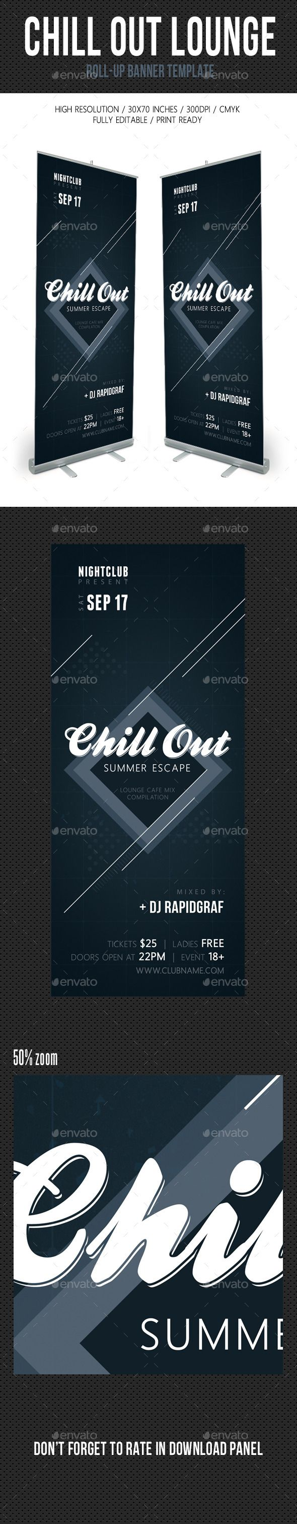Chill Out Lounge Banner Template
