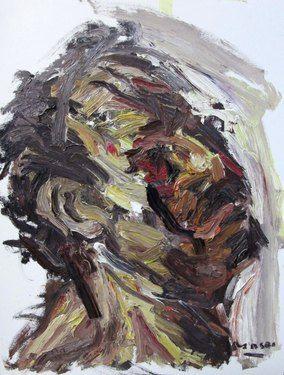 """Saatchi Online Artist Masri Hayssam; Painting, """"Maledezione - self p."""" #art"""
