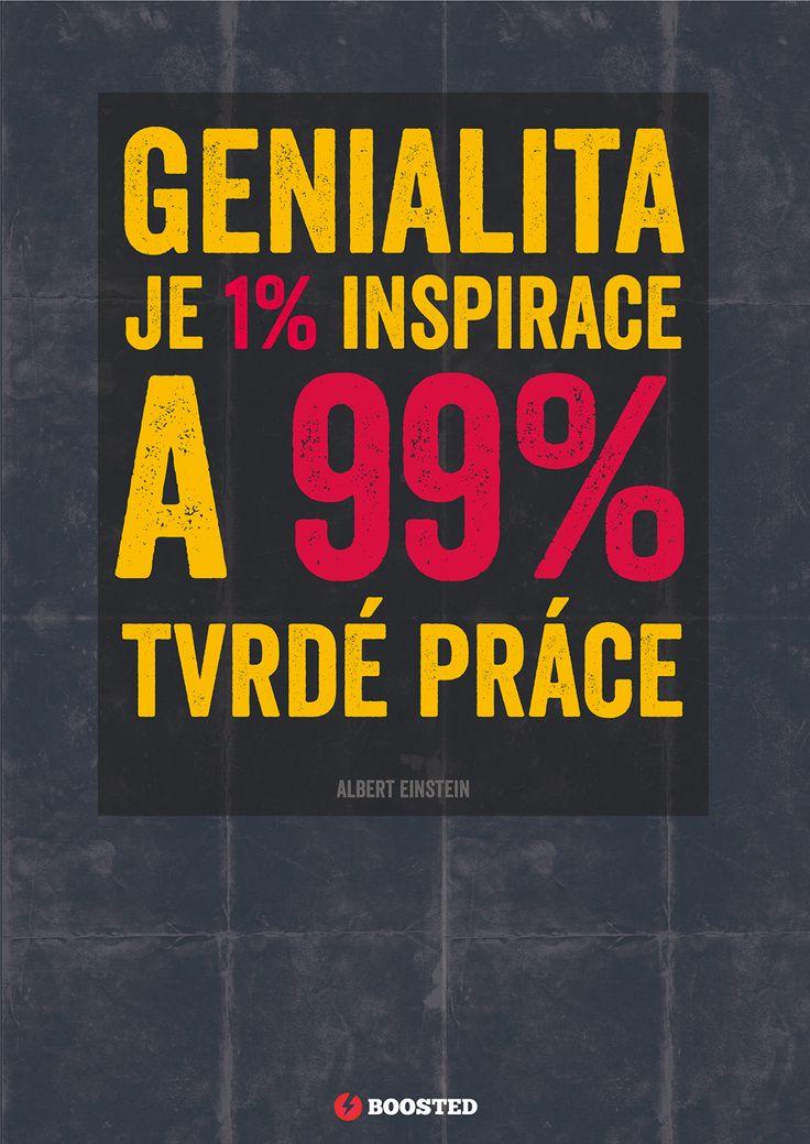 Motivační plakát Genialita (Česky)