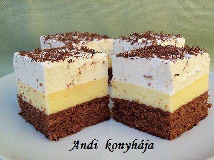 Amerikai krémes - Andi konyhája - Sütemény és ételreceptek képekkel