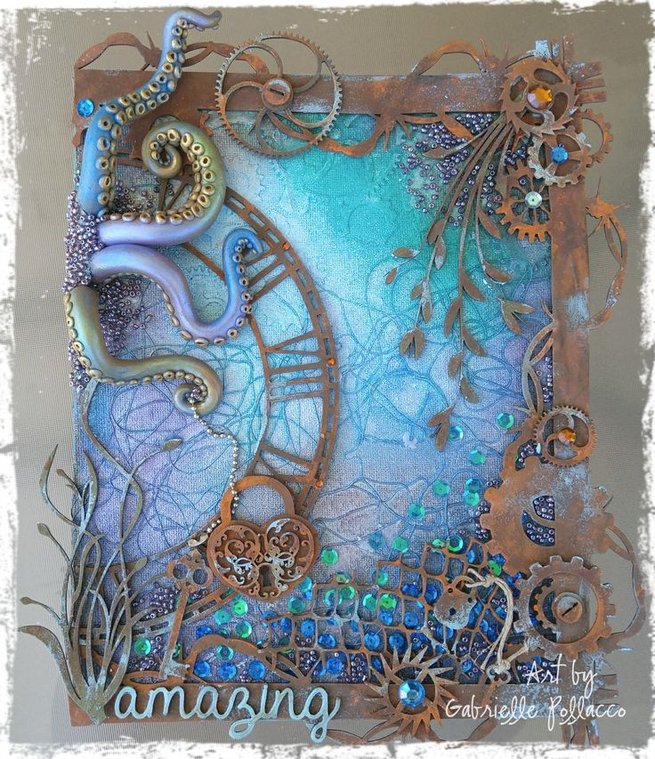 25 best ideas about mixed media tutorials on pinterest for Clay mural tutorial