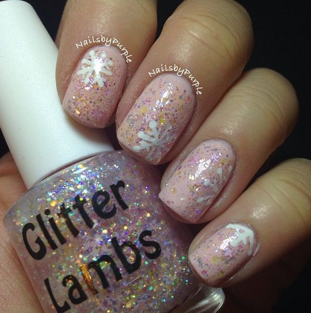 Cotton Candy Satin Fingernail Polish: 31 Best Its Snowing Cotton Candy Nail Polish GlitterLambs