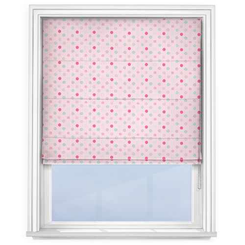 Fryetts Patch Pink Roman Blind