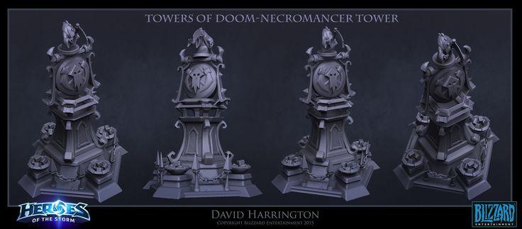 ArtStation - Heroes Of The Storm - Towers Of Doom Gravekeeper Tower, David Harrington