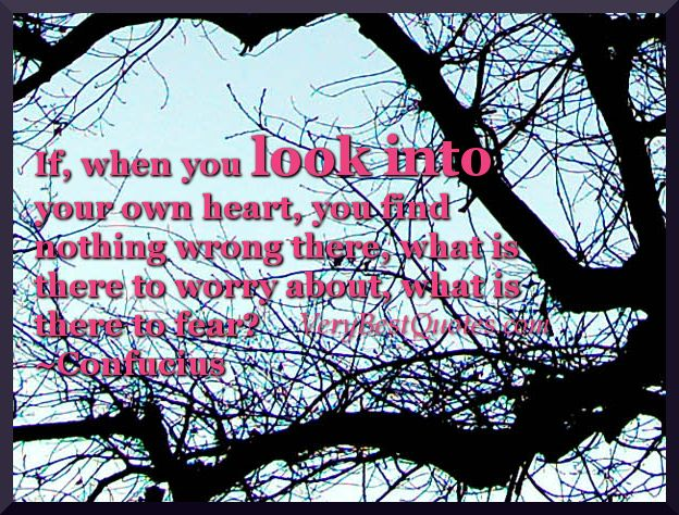 Look Into Your Own Heart Quotes   Confucius Quotes