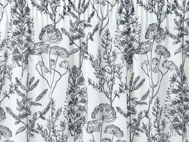 Wildflower Blue Pencil Pleat Curtains