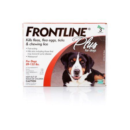 Frontline Plus for Dogs - Red, 3 Month Supply
