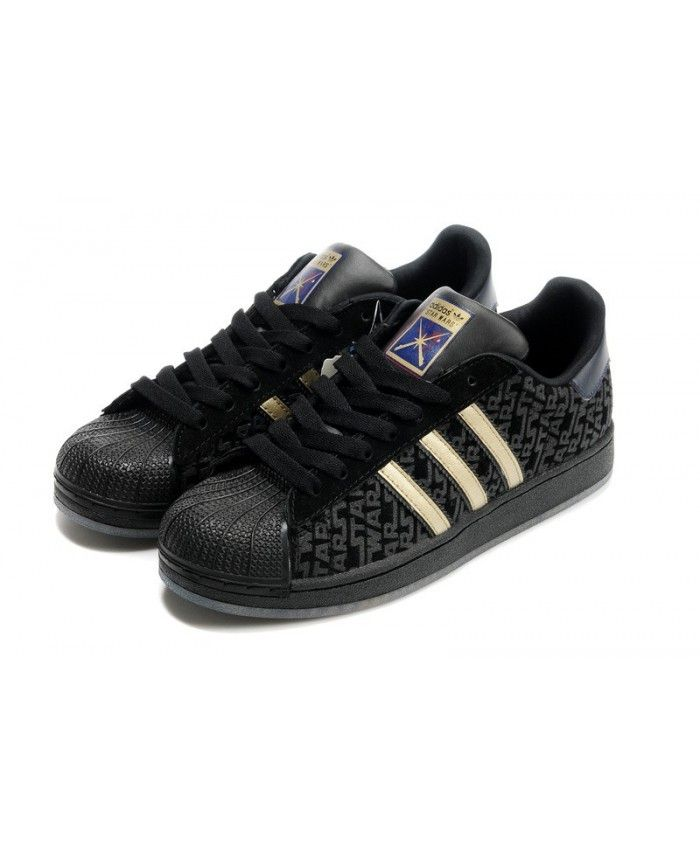Buy Cheap Adidas Superstar Mens Black Sale T-1112