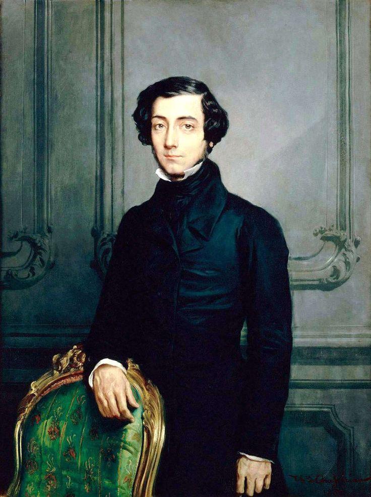"portrait of Alexis Charles Henri Clérel, Viscount de Tocqueville. Writer of ""Democracy in America"""