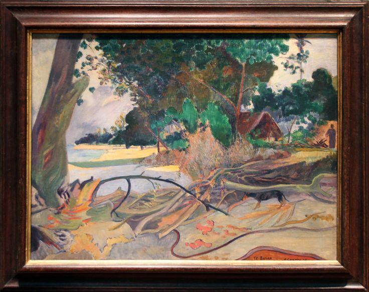 Paul Gauguin - The Hibiscus Tree (Te burao) 1892