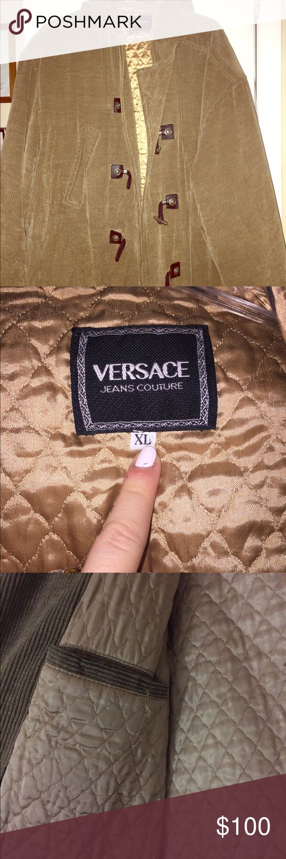 Vintage Versace Jacket Vintage corduroy Versace jacket with a quilted silk inside. Very warm and perfect for the fall/winter. Very rare and vintage!! Versace Jackets & Coats Pea Coats