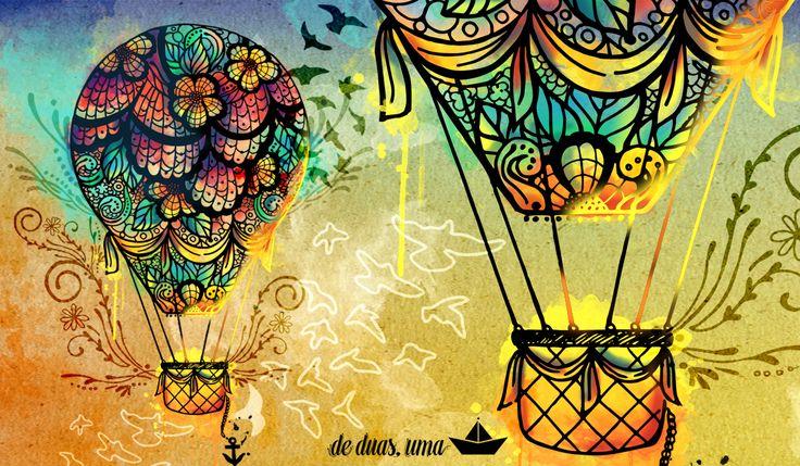 Ilustração: balloOn ~ De duas, uma | Design, Ilustrações e Tattoos