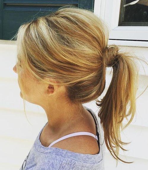 tousled+ponytail+for+medium+hair