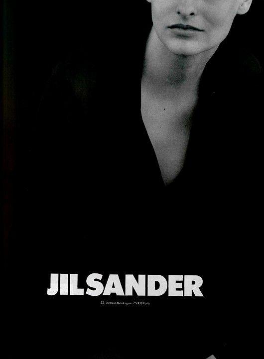Linda Evangelista by Peter Lindbergh for Jil Sander Fall 1994 ad campaign