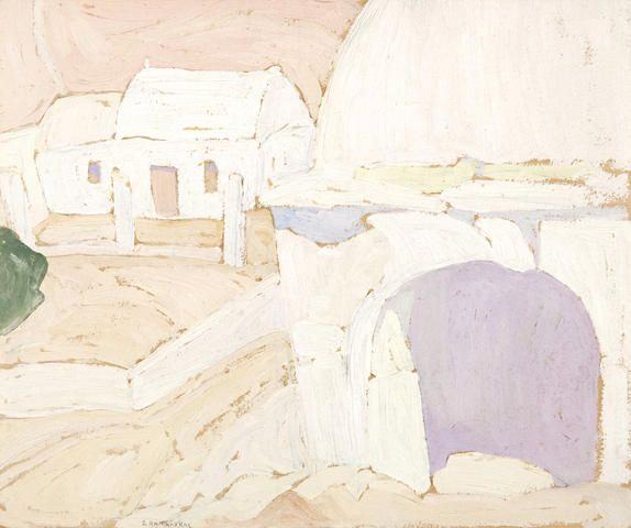 Spyros Papaloukas (Greek, 1892-1957) Clay oven in a house in Aegina