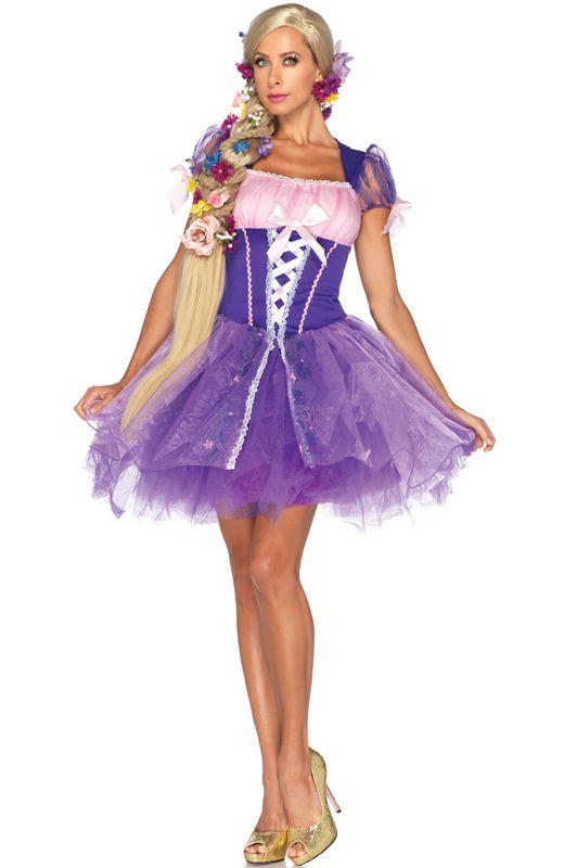 18654ae7918 Adult Fancy Dress Disney™ Princess Rapunzel Halloween Costume | halloween |  Rapunzel halloween costume,