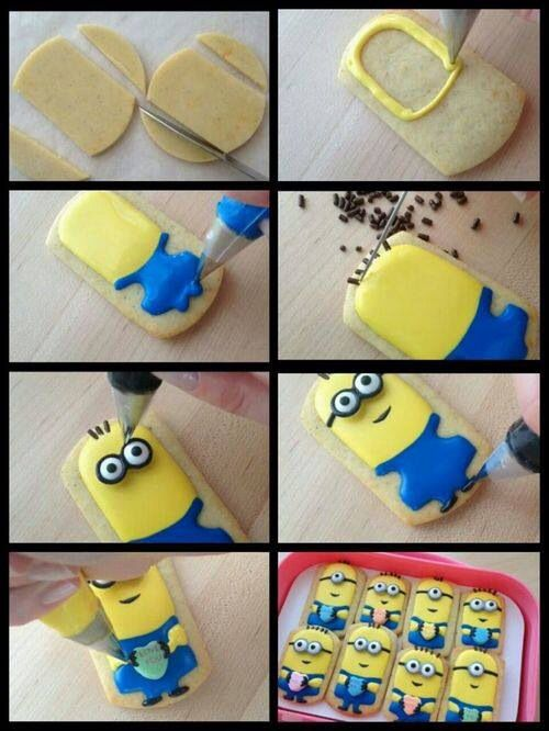 Minion cookies~                                How to make Minion cookies, no source, termite, blue