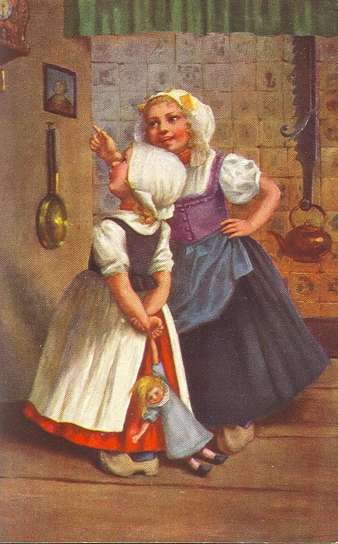 Старинные голландские открытки, днем рождения