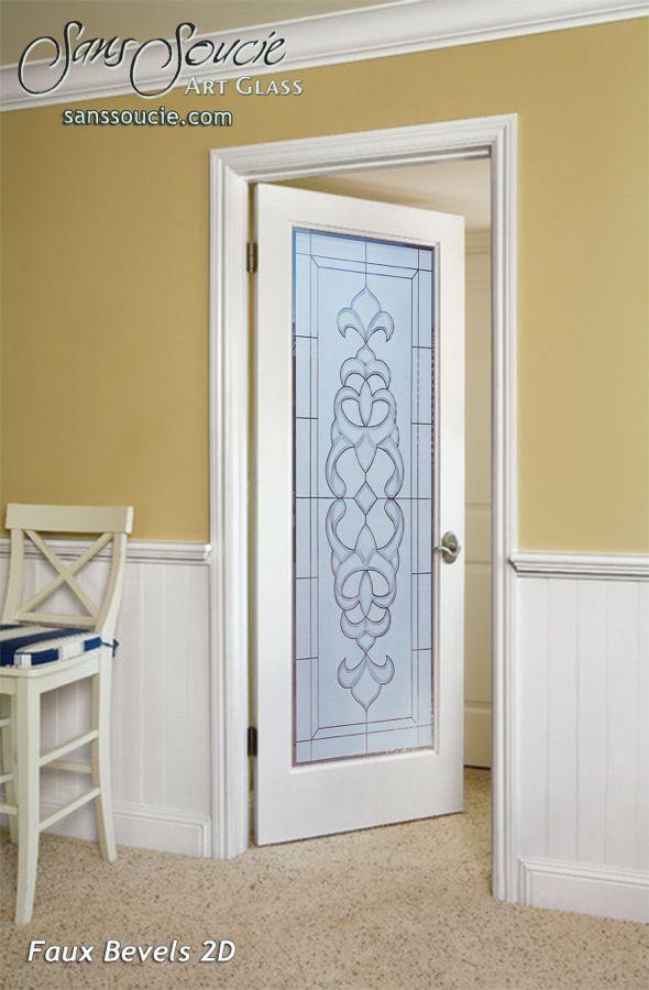 Faux Bevels 2D Pair Glass Interior Doors