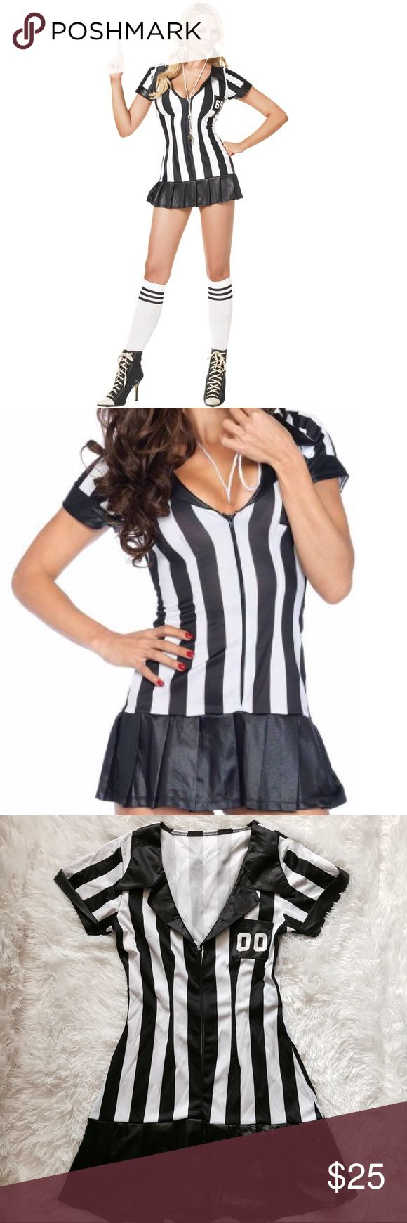 Why are referees uniforms black and white dress