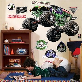 Awesome Party Supplies Monster Jam Giant Wall Decals just added...