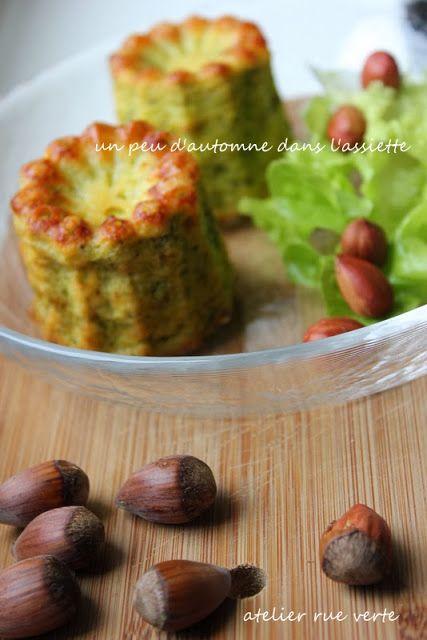 Cannelés au brocoli/ Photos Atelier rue verte