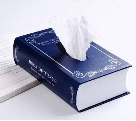 WHAT COULD BE MORE FITTING THAN THIS? I'll read my books and cry into the tissues from a book tissue holder.
