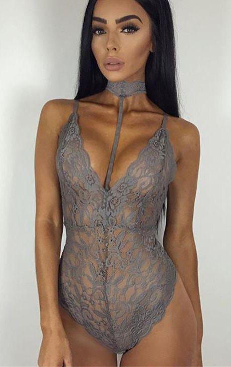 Lace Monokini Bodysuit