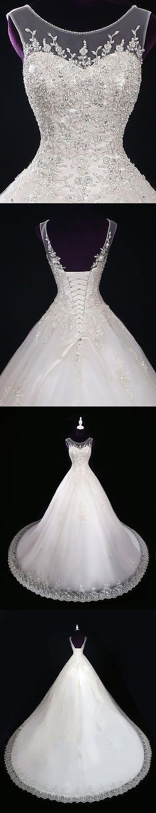 Ball Gown Wedding Dresses : Wedding Dresses: New Lace Ivory/White Wedding Dress Bridal Gown Custom Size 2 4