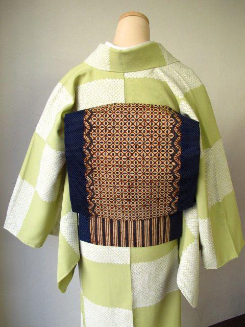 Batik sash for Japanese traditional kimono