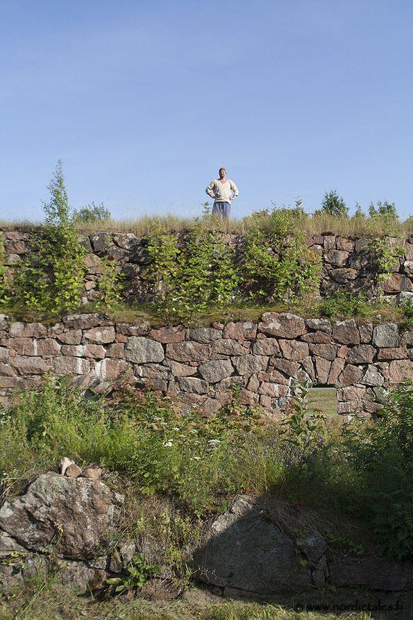 A Viking at Bastion Ungern in Lovisa, Finland