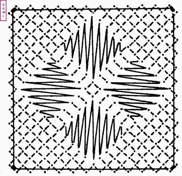 Voici un nouveau carré (le n° 4) de notre damier, il est réalisé en fond torchon et grille