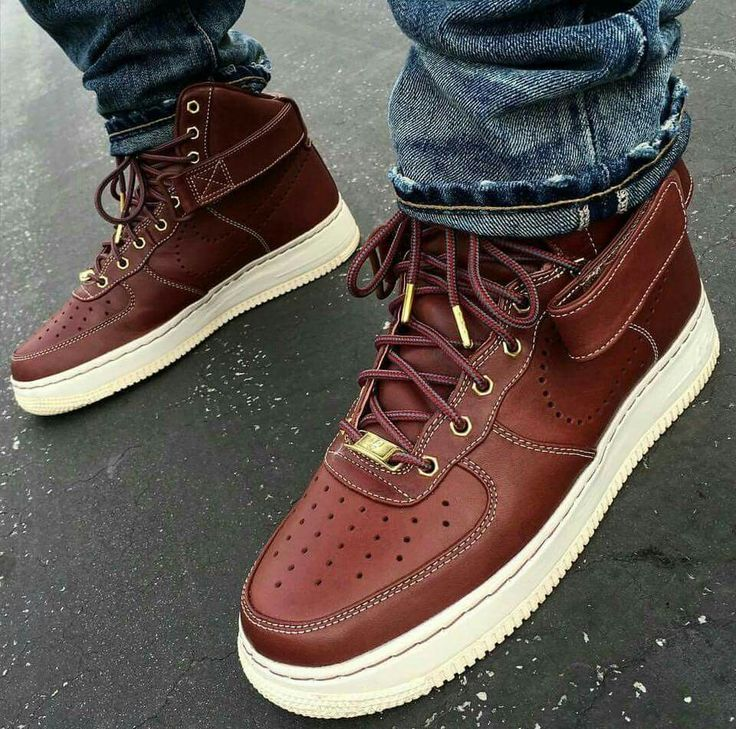 Pinterest: qreativeneisha Brown Leather Low Air Force 1s