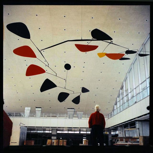 Calder looking at Calder. Never get tired of his work.
