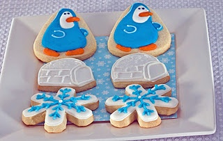Penguin and Igloo cookies from The Cookie Jar