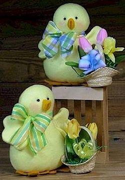 Peepers Chick - Wool Felt, Felt Appliqué Countryside Craft PATTERN