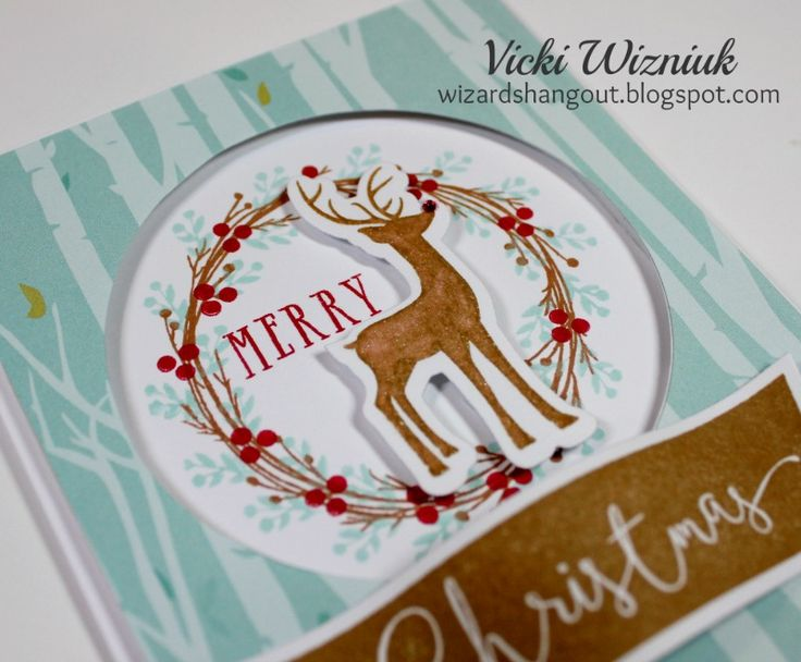 Take a moment.... oooohhh, aaaahhhhh....               Lol, I love how pretty this card is!     This Christmas card showcases the CTMH Oh...