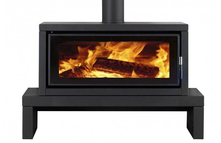 Norseman Aura Freestanding Wood Heater With Bench