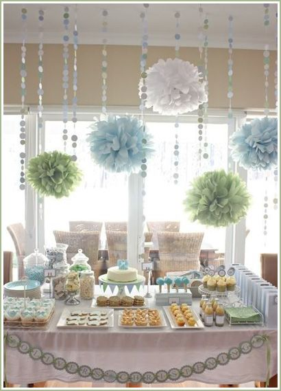 I just like those puff ball things hanging from the ceiling. Cute!
