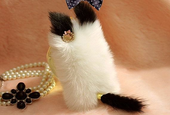 Cute Cat Iphone Case, Fake Fur Cases, Fluffy Case for Iphone 5S 5c 5 4 on Etsy, $19.50