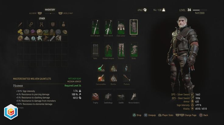 The Witcher 3 Wild Hunt Mastercrafted Wolven Wolf School Gear Set DLC Diagrams Locations Guide – VGFAQ