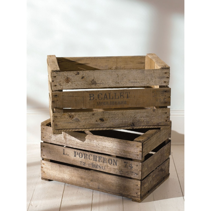 Old wooden crates old things new again pinterest for Where to buy old crates