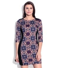 Madame Blue Printed Dress