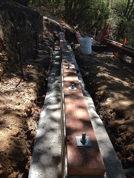 Picture of Trick for Attaching Sill Plates To Concrete Footings
