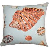 Features:  -Rayen collection.  -Hidden zipper closure.  Product Type: -Throw pillow.  Style: -Coastal.  Shape: -Square.  Cover Material: -100% Cotton.  Fill Material: -Down/Feather.  Theme: -Nautical.